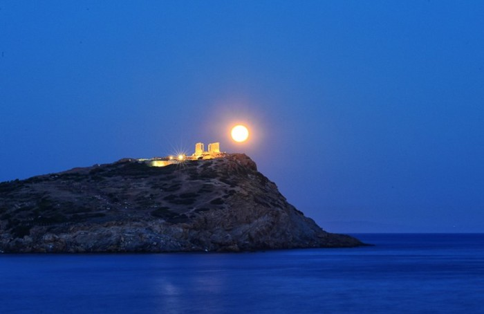 cape sounio evening