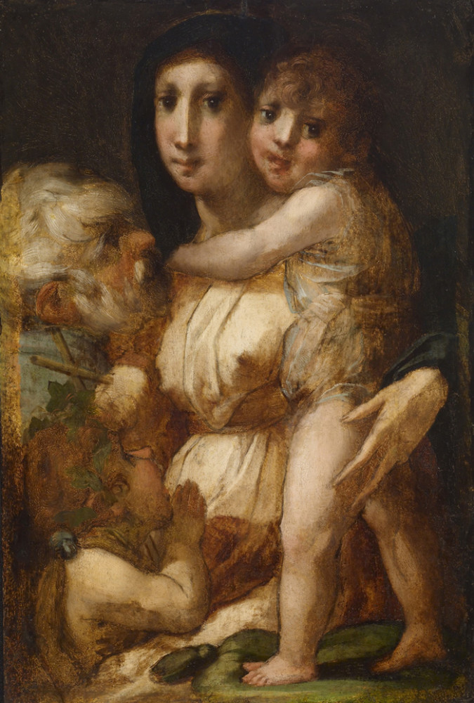 Rosso Fiorentino, Holy family with the young St. John the Baptist, Walters Art Gallery, Baltimore