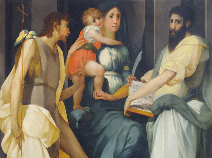 Rosso Fiorentino, Villamagna Altarpiece, Volterra (top half)