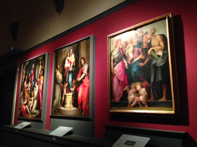 Comparison between works by Pontormo, Andrea del Sarto and Rosso Fiorentino at Palazzo Strozzi.