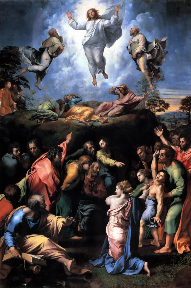 Raphael's Transfiguration is an exception to his lack of use of Chiaroscuro.