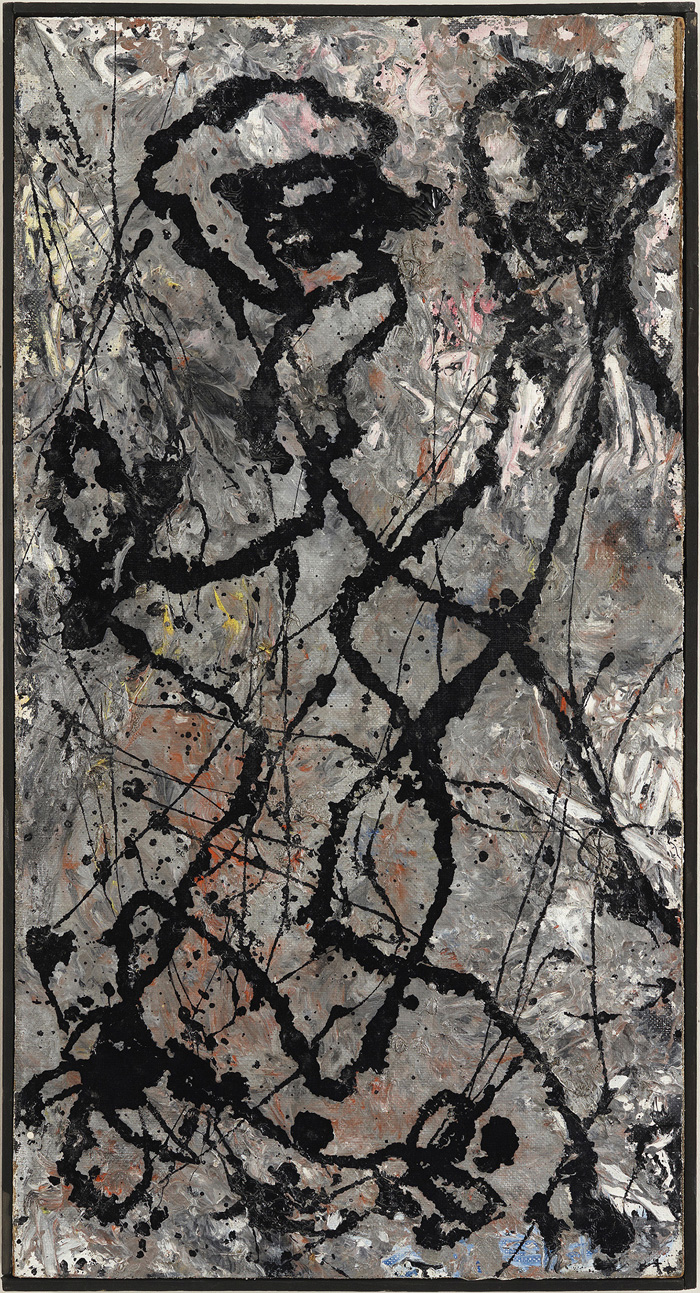 Jackson Pollock ,Composition with Black Pouring, 1947, The Olnick Spanu Collection, © Jackson Pollock, by SIAE 2014 [He kept this work in his studio.]