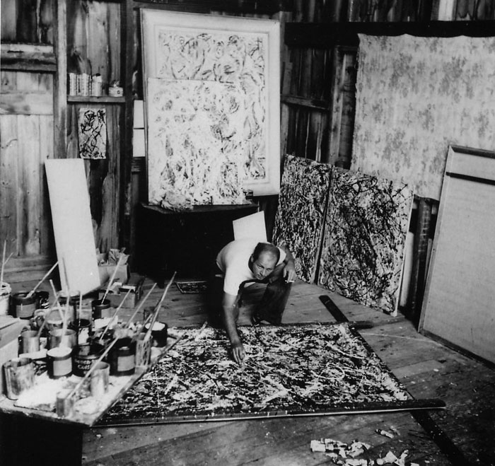 Pollock photographed in 1947 by Wilfred Zogbaum