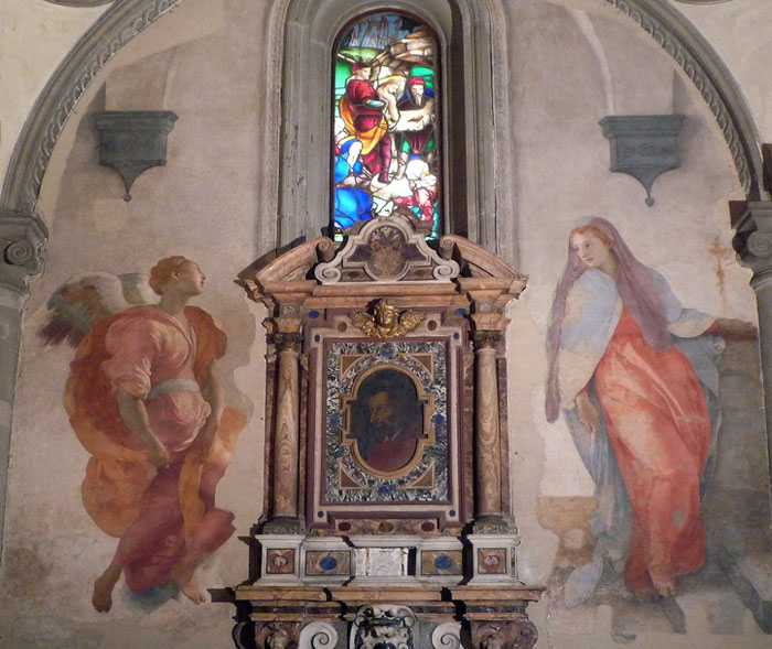 Pontormo, Annunciation. Fresco in the Capponi Chapel. Photo Flickr @drzucker