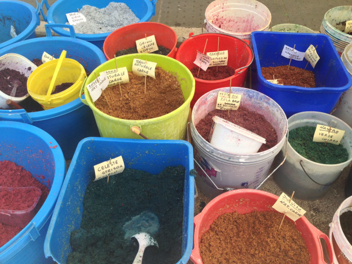 Prepared colours from organic materials