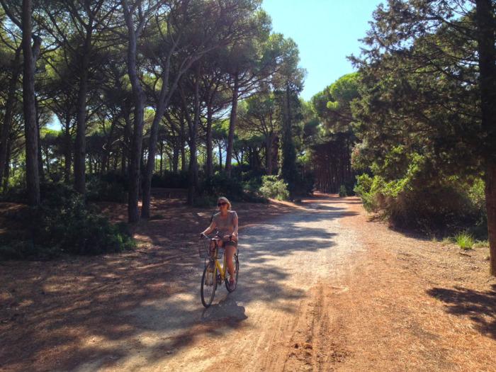 Biking on the Feniglia path
