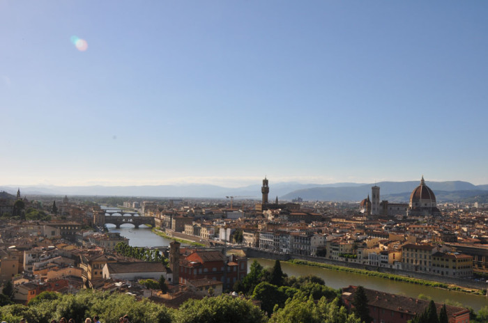 I never tire of the view from Piazzale Michelangelo