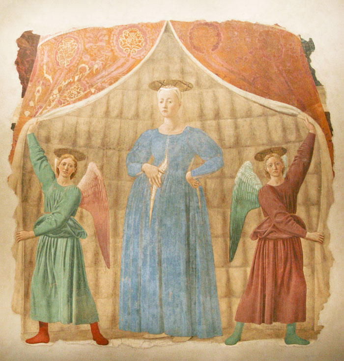 Piero della Francesca, Madonna del Parto. Image in the public domain.