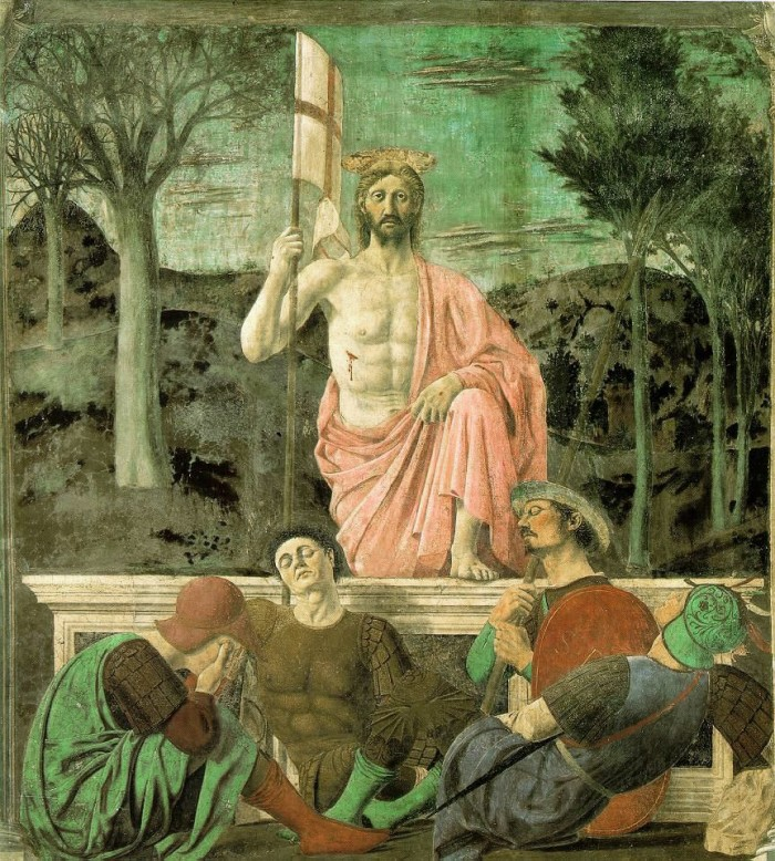 Piero della Francesca, Resurrection. Image in the public domain.