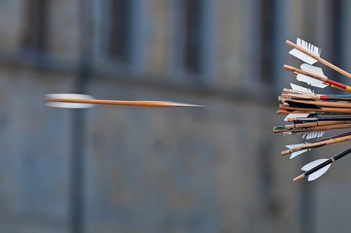 Palio della Balestra - a good shot. Photo: Copyright © Duestop.com 2013