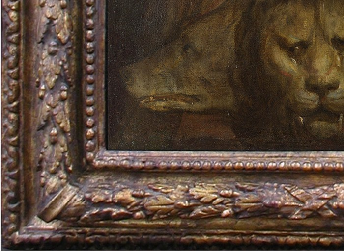 Titian & workshop, An allegory of prudence, detail of present frame