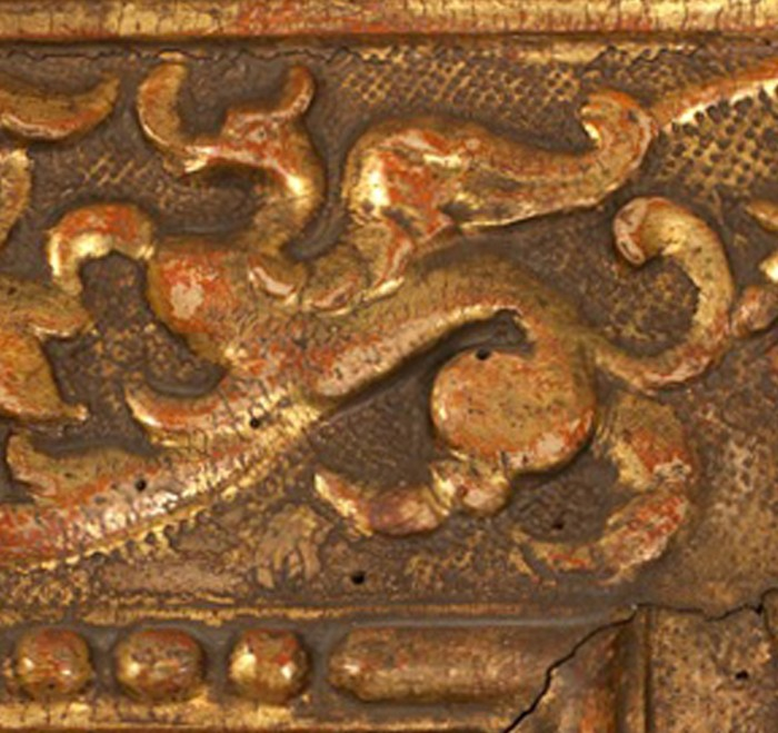Carved dragons among the leaves
