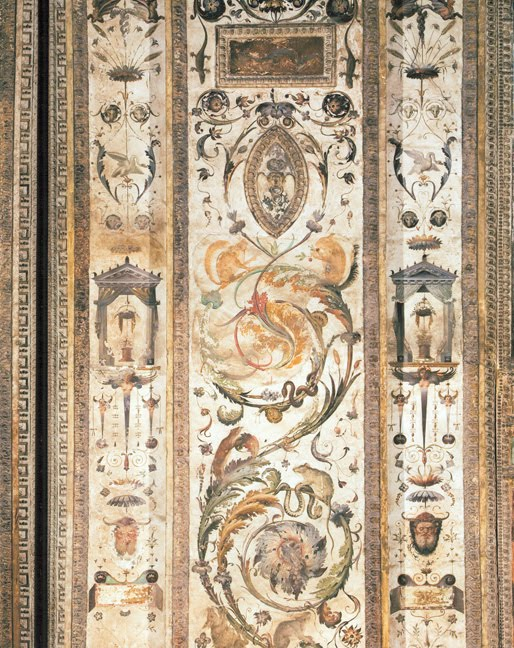 Studio of Raphael, a detail of the decoration in the Loggetta Bibbiena, 1516-17, Vatican.