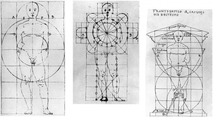 Floor plan geometry vs. human body - Francesco di Giorgio (source unknown)