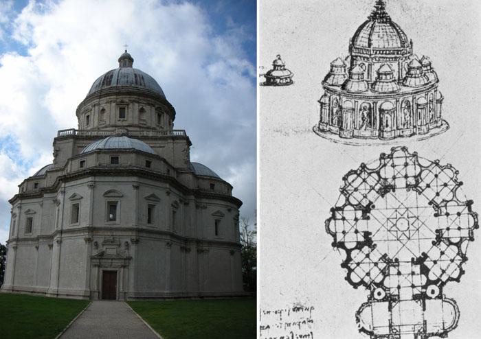 Was Leonardo behind the church of the Madonna della Consolazione near Todi?