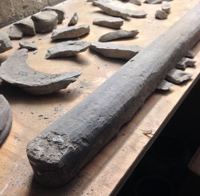 Removed parts of the decoration in church storage