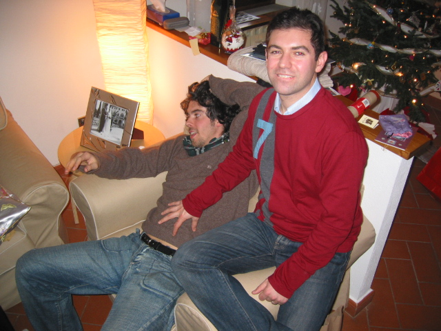 Tommaso and his brother Gianluca at our home in 2005