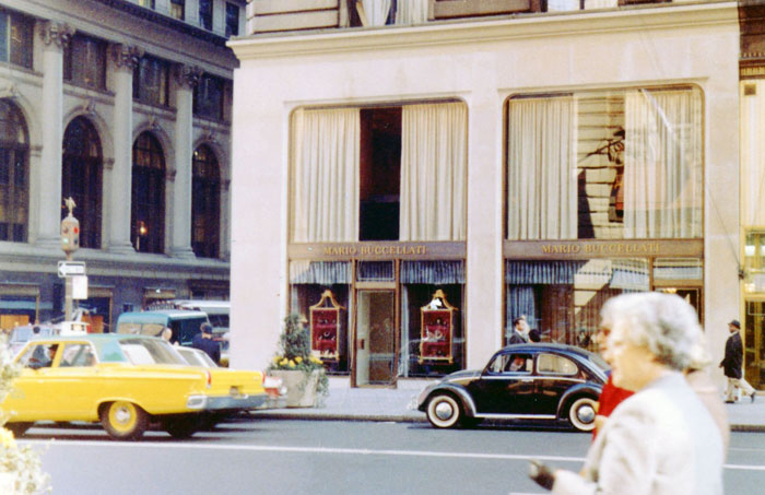The Milan store in the 1960s