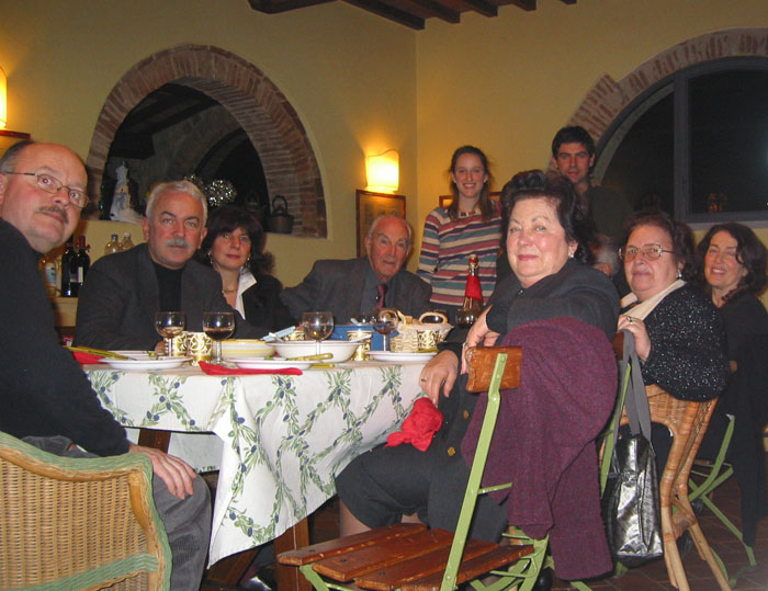 Turkey dinner with Tommaso's 2 sets of grandparents, and our 2 sets of parents, in a rented vacation apartment, in 2002