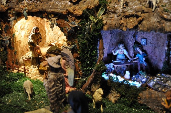 Cork presepe display in Matera, where we visited with family in 2009