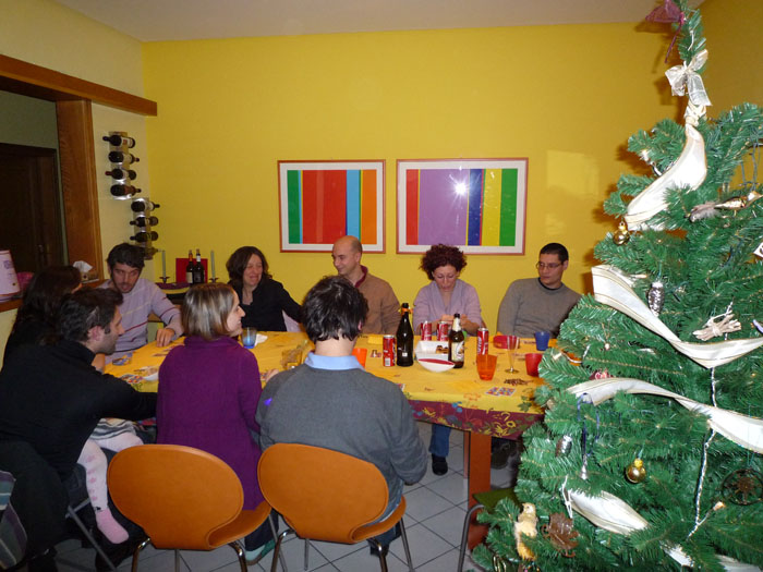 December 27, 2008: playing tombola (Italian bingo) with my brother and sister in law and various couple friends