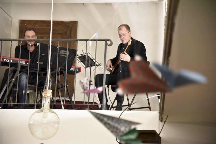 Musicians in the loft