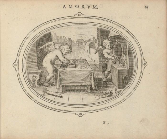 """Amorum Emblemata: """"Amor certus in re incerta cernitur [23]"""""""