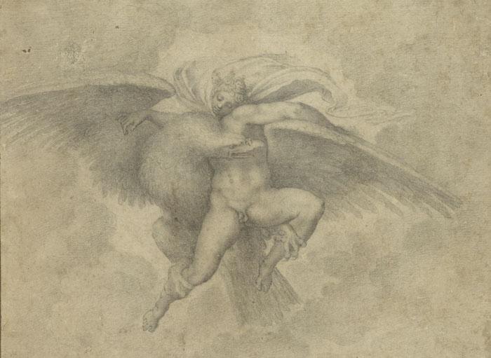 Michelangelo, Ganymede. Fogg Art Museum