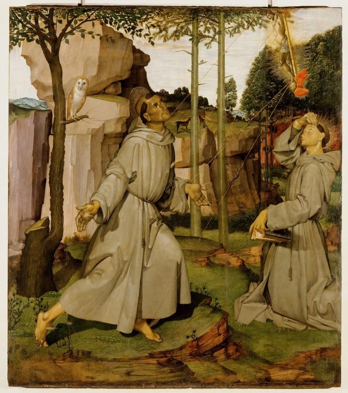 Bartolomeo della Gatta, San Francesco riceve le stimmate, Castiglion Fiorentino, Pinacoteca Comunale