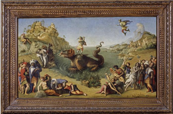 Piero di Cosimo, Perseus and Andromeda, detail,Florence, Uffizi Gallery
