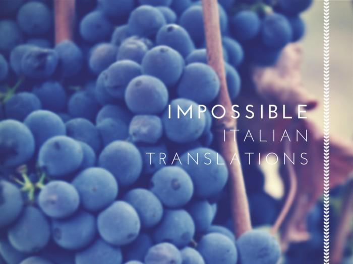 Impossibletranslations
