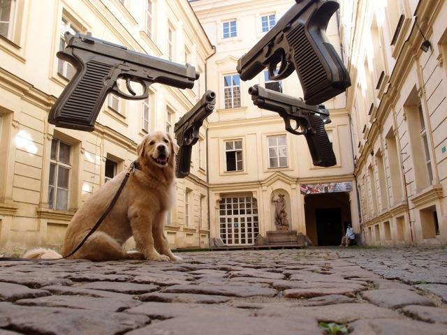 Prague, a temporary exhibit of contemporary art