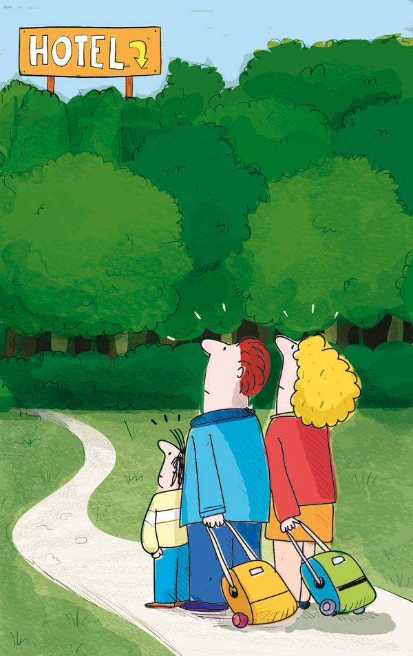 Immerso nel verde - illustration by Leo Cardini for The Florentine