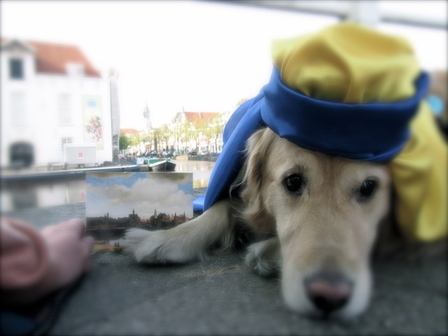 Delft, tribute to Vermeer