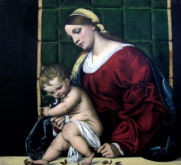 Alessandro Moretto, Madonna con Bambino, XVI secolo, Musei di Strada Nuova, Genova