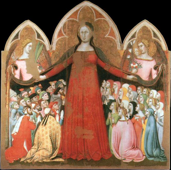 Bartolo di Fredi, Madonna della misericordia, 1364, Museo Diocesano, Pienza