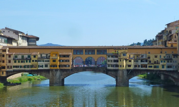 The Ponte Vecchio, seen from the Ponte Santa Trinita