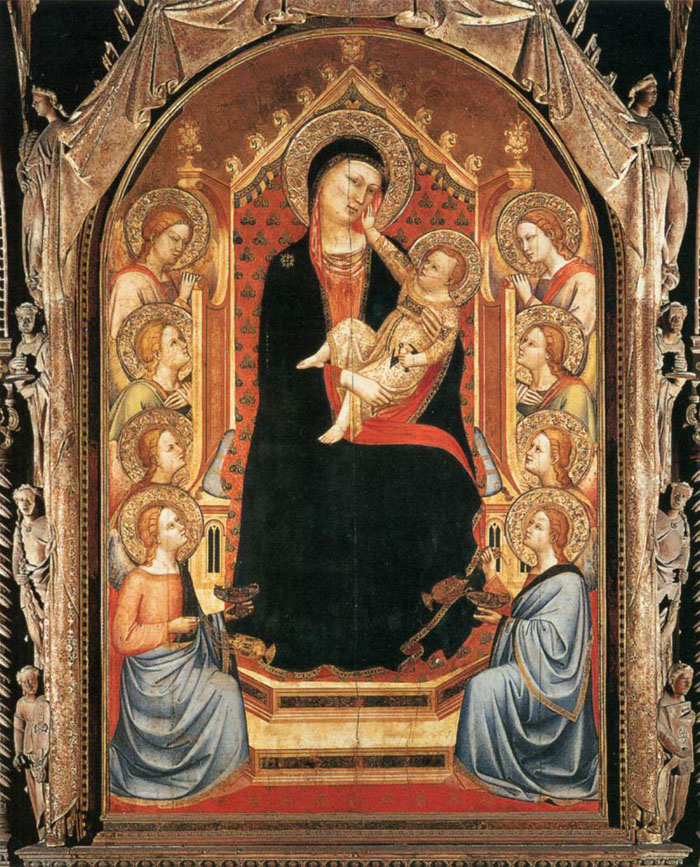 "Bernardo Daddi ""Madonna and Child with Angels"", Orsanmichele"