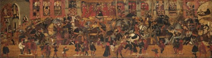Joust in Piazza Santa Croce   Yale University Art Gallery