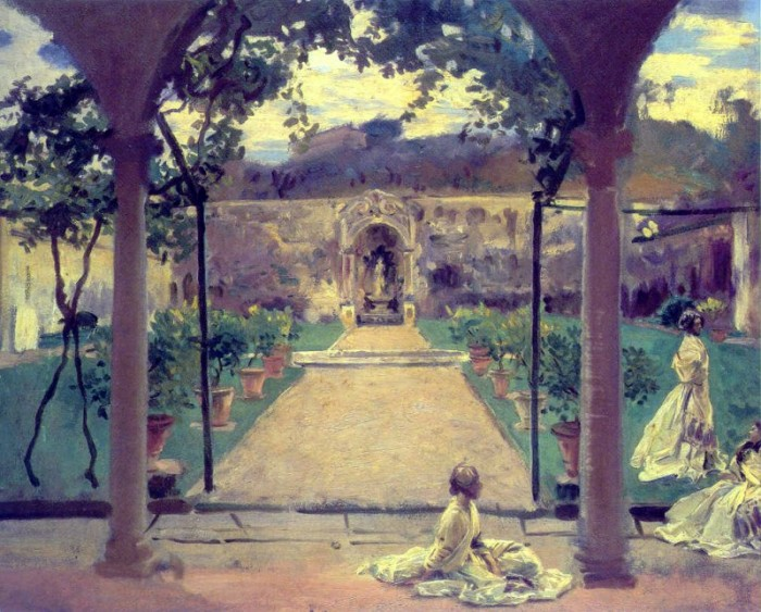 Life as an expat in Florence in the 19th century was super relaxed | John Singer Sargent, At Torre Galli: Ladies in a Garden, 1910, oil on canvas;  Royal Academy of Arts, London