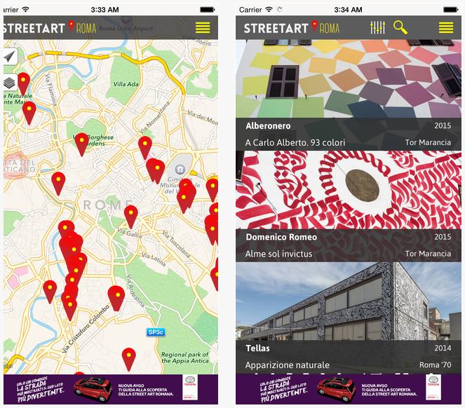 Street art rome app (IOS)