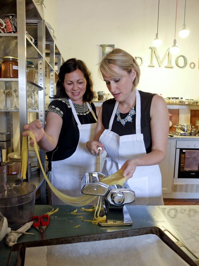 Fellow guest Emiko Davies taught me how to use the pasta mill