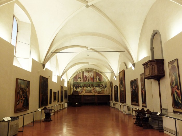 San Marco, refectory with painting by Giovanni Antonio Sogliani