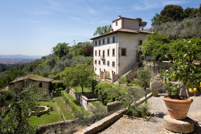 Villa Tantafera is the location of this artists workshop outside Florence