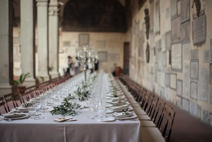 Dinner in the courtyard of Santo Spirito