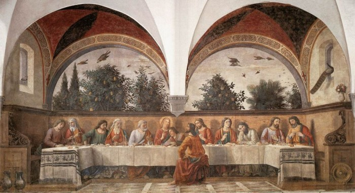 Ognissanti, Last Supper by Ghirlandaio (Credit: Wikipedia)