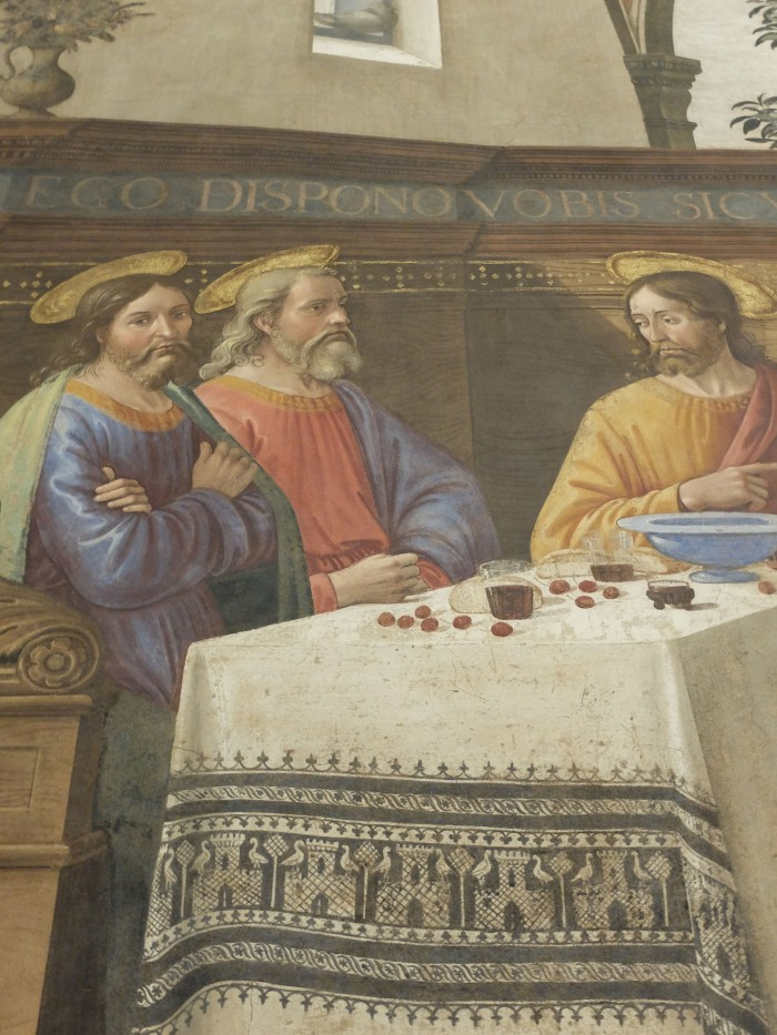 Detail of the Ghirlandaio fresco