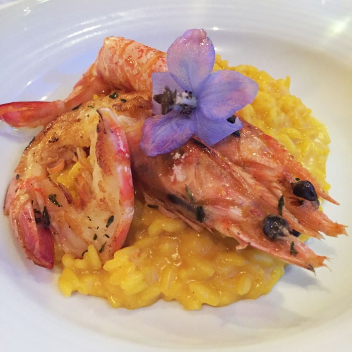 Risotto allo zafferano with King Prawns
