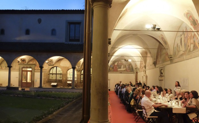 Dinner in the courtyard of San Marco