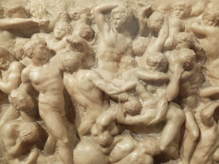 Michelangelo, Battle of the Centaurs. He was 17 when he made this.